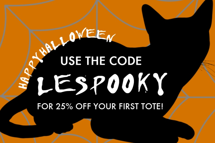 Halloween LE TOTE coupon code LESPOOKY