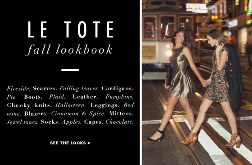 LE TOTE lookbook cover