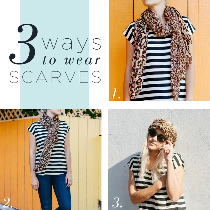 Three Ways to Wear Scarves!