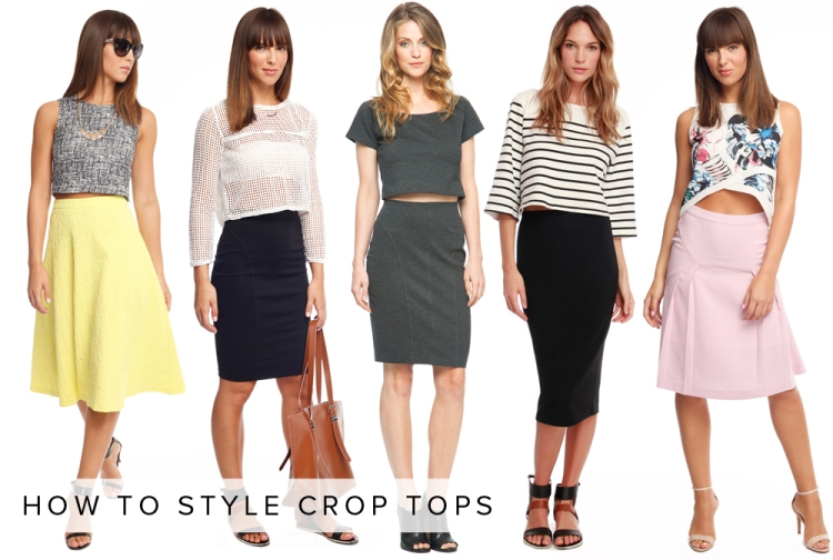 how to style crop tops LE TOTE