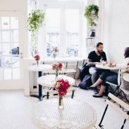 7. The all-white decor over at The Bakeshop By Woops in Brooklyn is just so on trend.