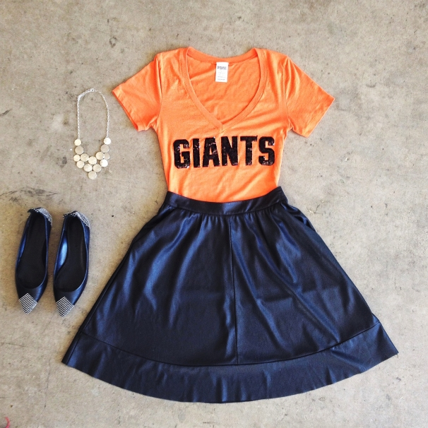 Sporting event and baseball outfit ideas for the Giants at the world series 2014