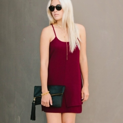 A perfect and simple party dress in the Pantone Color of the Year!