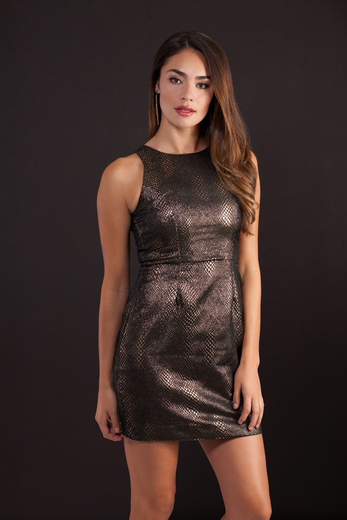 NYE outfit idea sparkly dress from LE TOTE