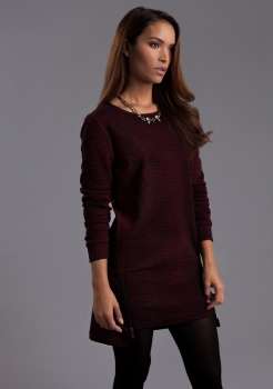 This edgy dress is a great way to incorporate the earthy red hue of Marsala into your wardrobe.