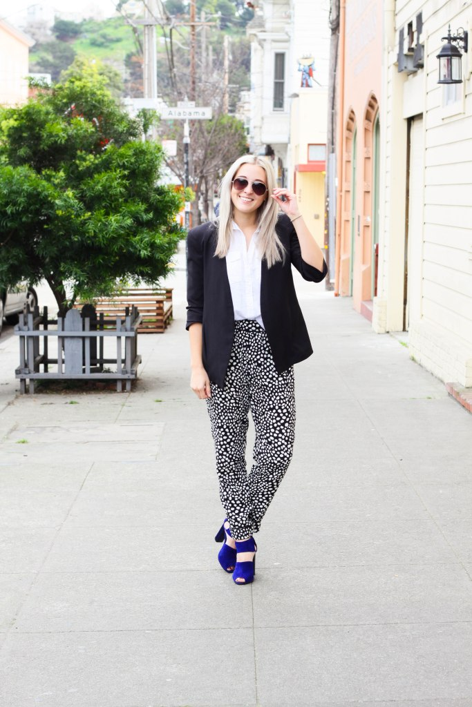 How To Wear Patterned Pants to the office | LE TOTE