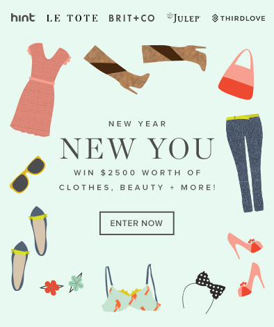 Win $2500 in beauty, clothes and more from Brit.co ,LE TOTE, Julep, Hint Water, and Third Love