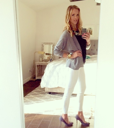 Emily in our Paulie Cardigan by DEX