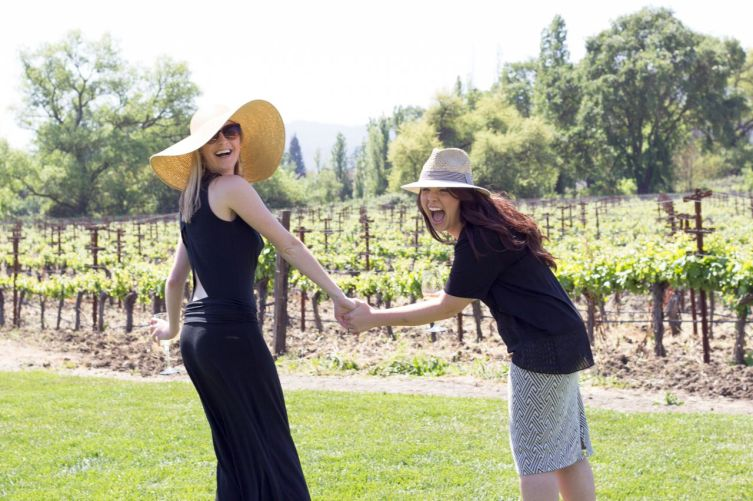 Love the way Kristen (Marketing) and Tessa (Merchandising) weren't afraid to go BIG with their head-ware.