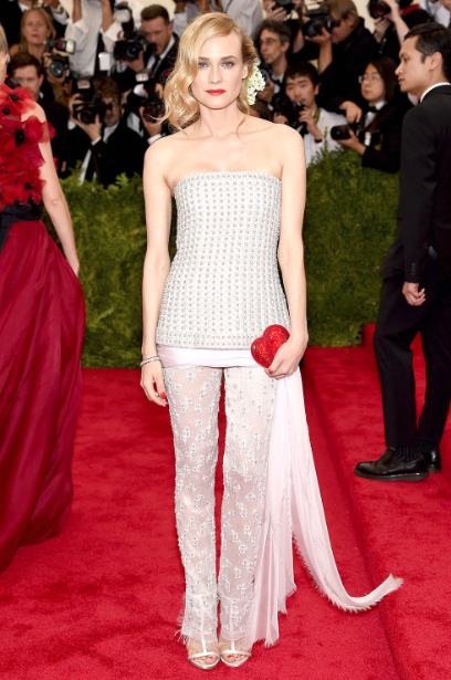 Diane Kruger took a risk and went with a pant on the red carpet— and it paid off! This Chanel piece is both understated and unique at the same time; a difficult feat to accomplish in fashion.