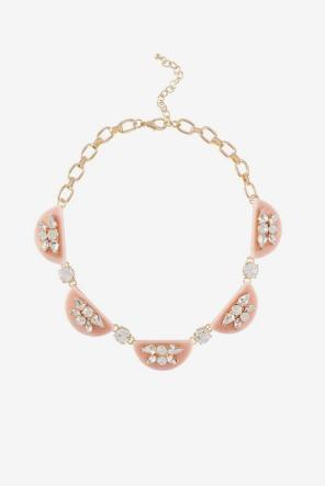 Noir Crystal Blush Necklace