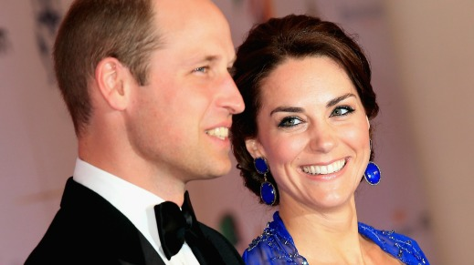 MUMBAI, INDIA - APRIL 10: Catherine, Duchess of Cambridge and Prince William, Duke of Cambridge arrive for a Bollywood Inspired Charity Gala at the Taj Mahal Palace Hotel during the royal visit to India and Bhutan on April 10, 2016 in Mumbai, India. (Photo by Chris Jackson/Getty Images)