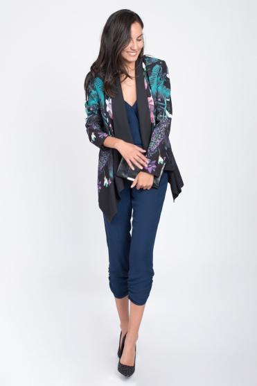 Oasis Print Drape Jacket